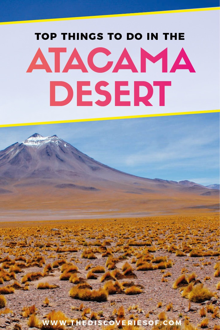 Atacama Desert in Chile is one of the best travel destinations in South America. Awesome photography, stars and landscapes #southamerica #chile #desert #traveldestinations 1