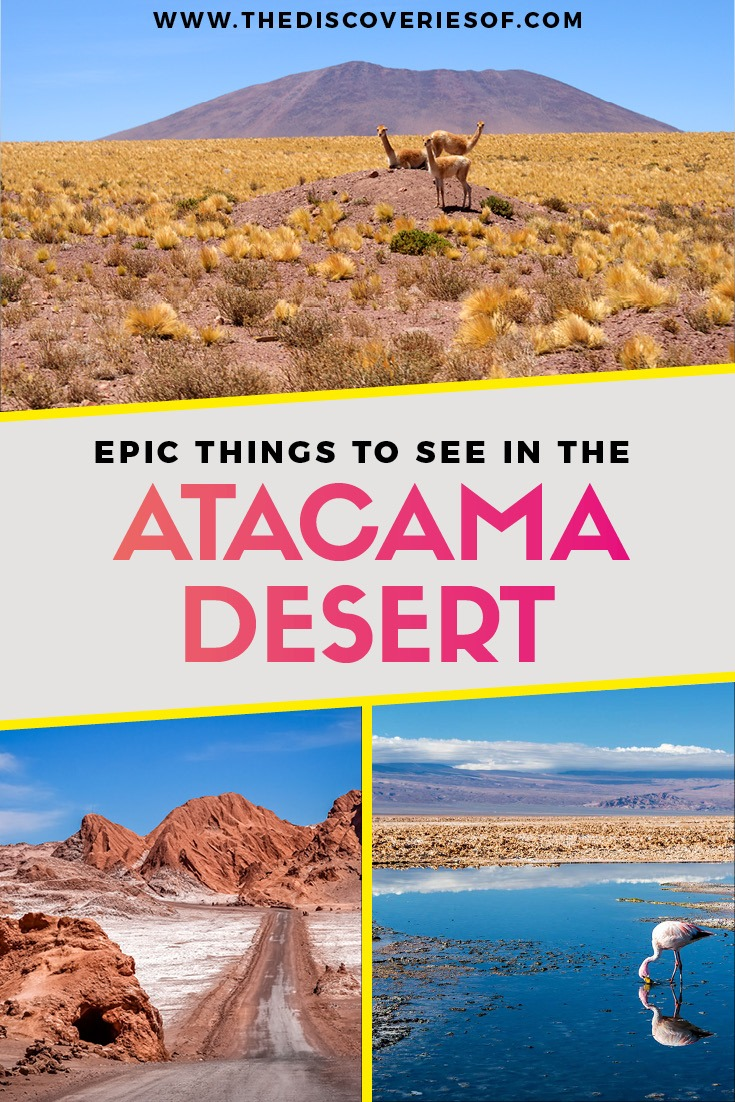 Atacama Desert in Chile is one of the best travel destinations in South America. Awesome photography, stars and landscapes #southamerica #chile #desert #traveldestinations