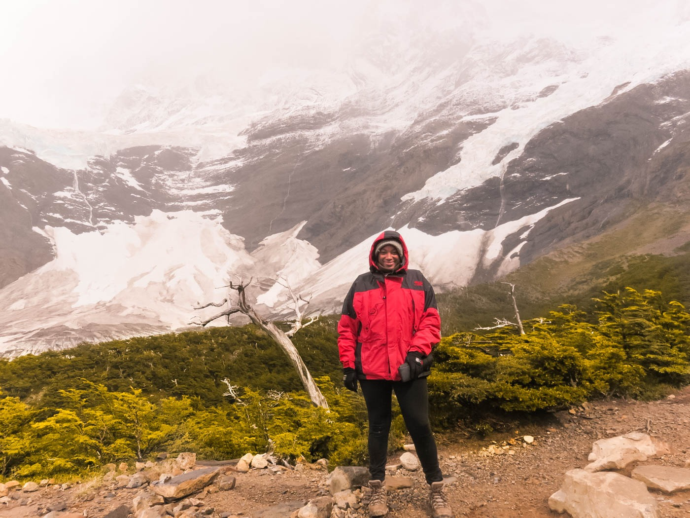 Julianna Barnaby hiking in Torres del Paine National Park