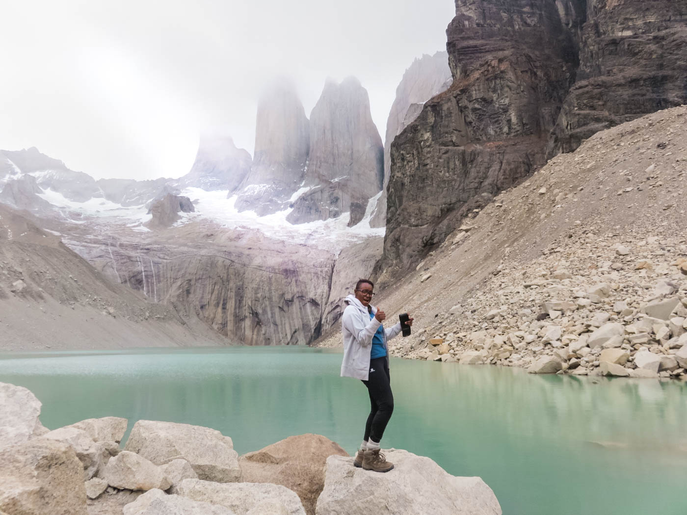 Julianna Barnaby at the Torres del Paine