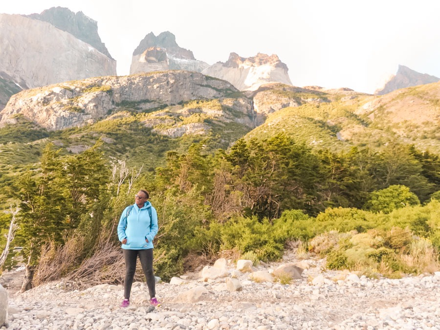 Julianna Barnaby on the Torres del Paine