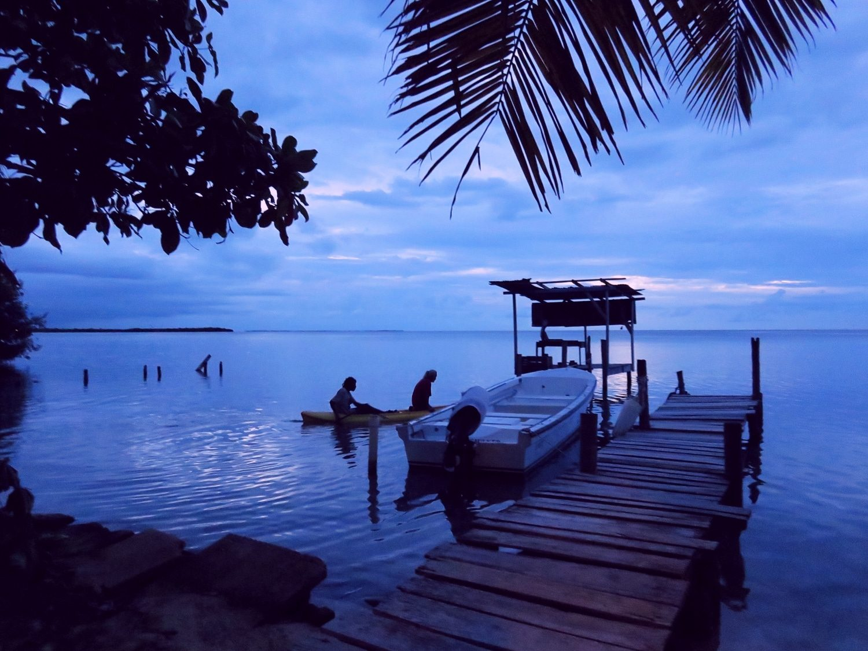 Amazing sunset in Caye Caulker, Belize