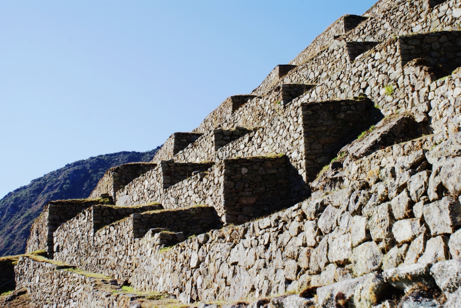 Stone steps at Machu Picchu