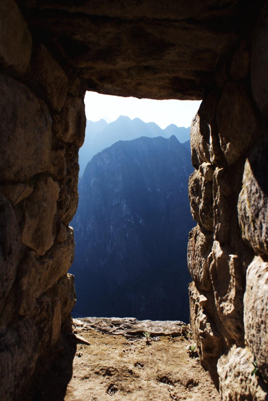 stone window in Machu Picchu