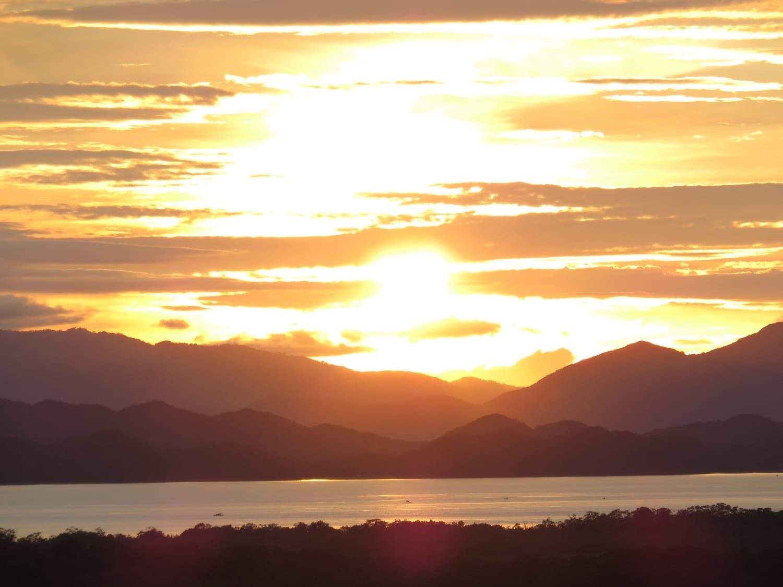 Amazing sunsets in the Gulf of Nicoya Costa Rica