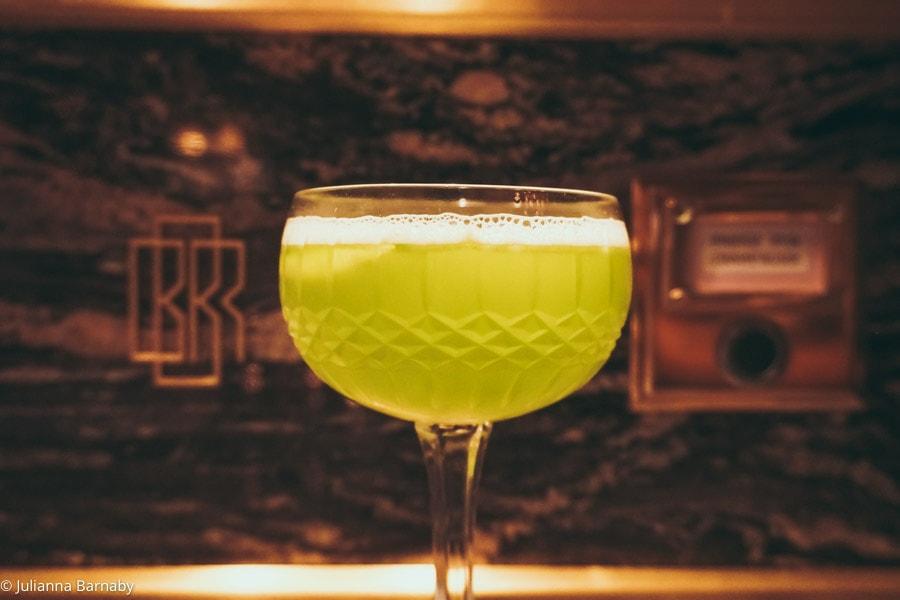 cucumber martini at Bob Bob Ricard