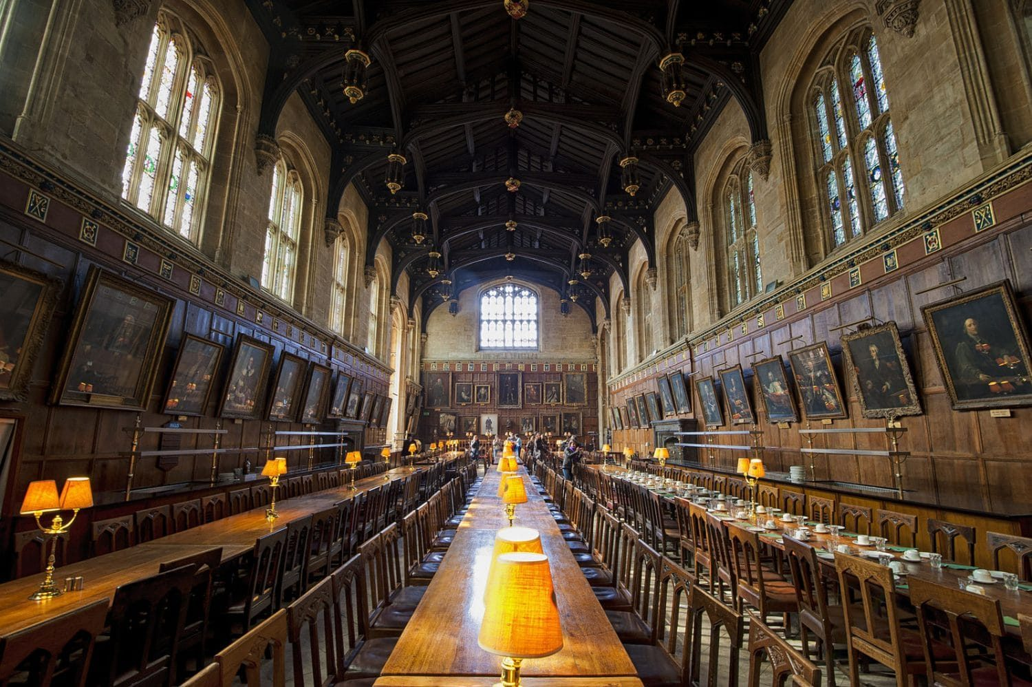 Christ Church College Dining Hall in Oxford as seen in Harry Potter