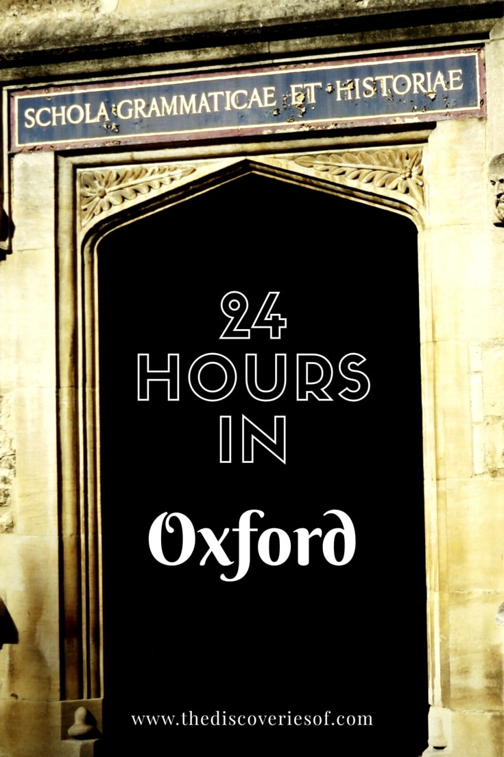 24 Hours in Oxford. The most detailed free travel guide to Oxford you'll ever read.