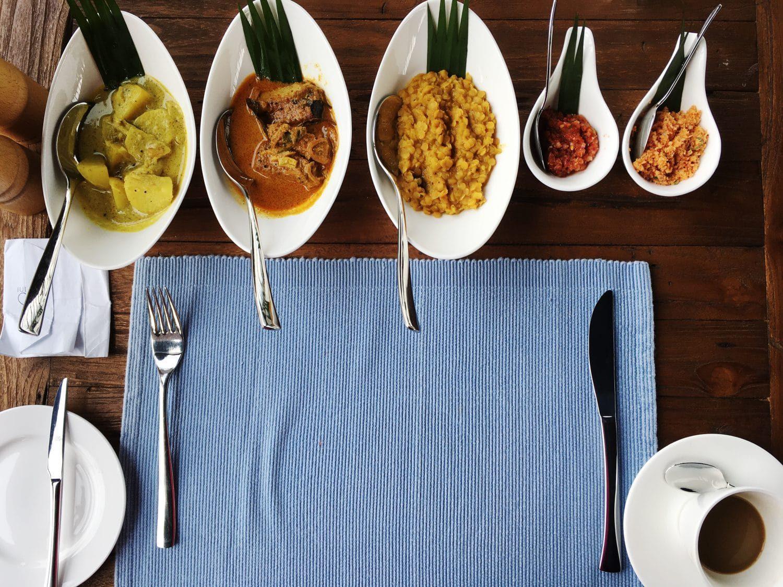 breakfast at Santani Sri Lanka