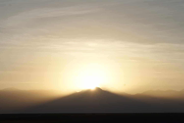 Sunrise over Volcano Lascar, Atacama Desert