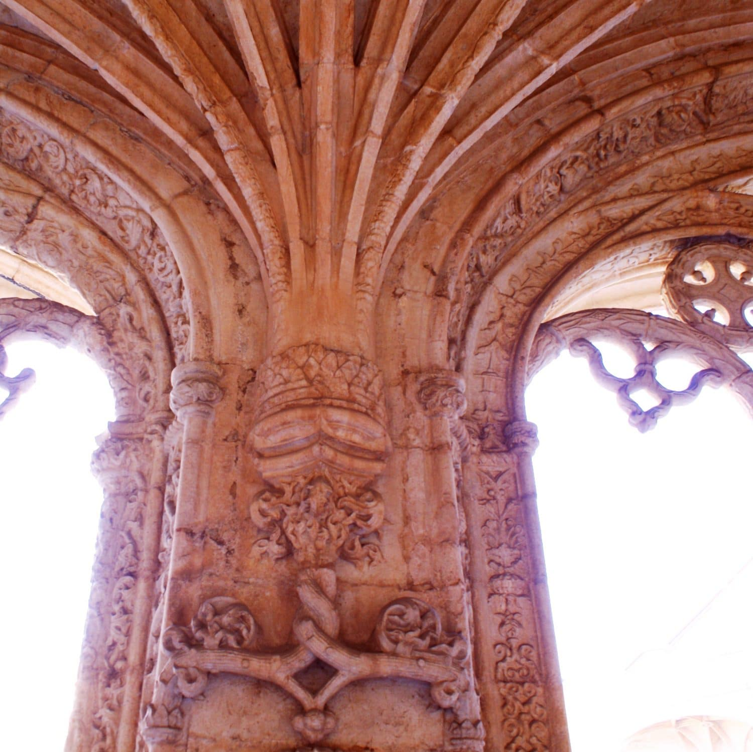 Arches in the cloisters at San Jeronimos Monastery
