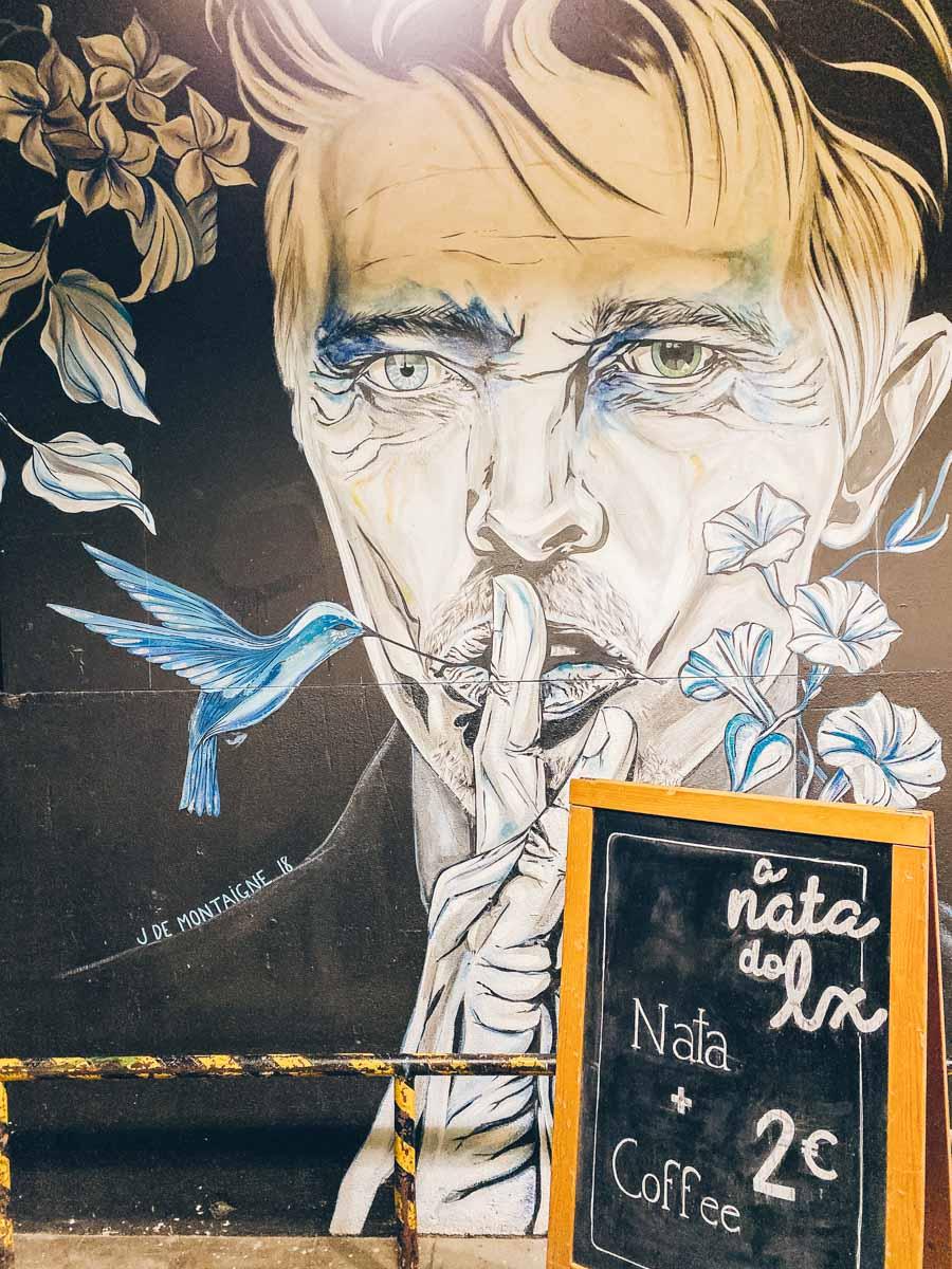 David Bowie Street Art LX Factory