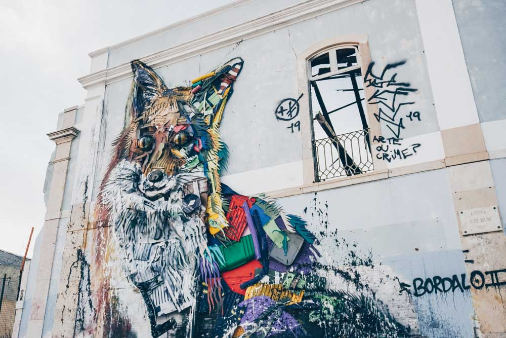 Street Art by Bordalo II in Lisbon