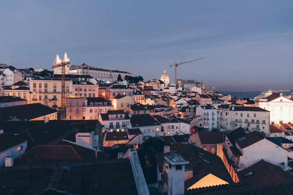 Views of Alfama from Portas do Sol