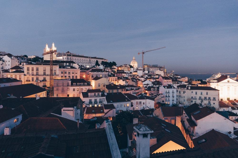 Views of Alfama from Portas do Sol