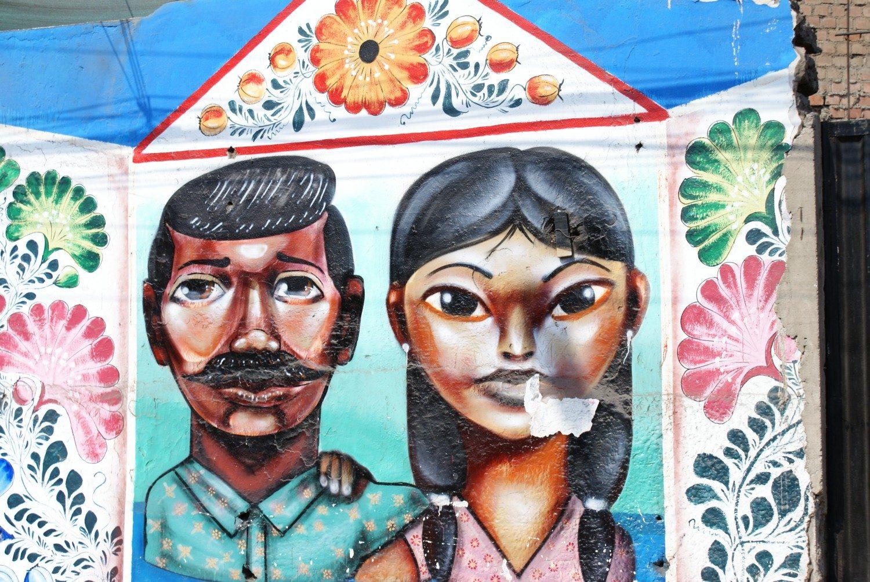 Street art in Barranco, Lima, Peru