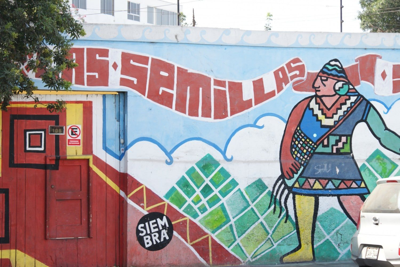 Incan mural in Lima