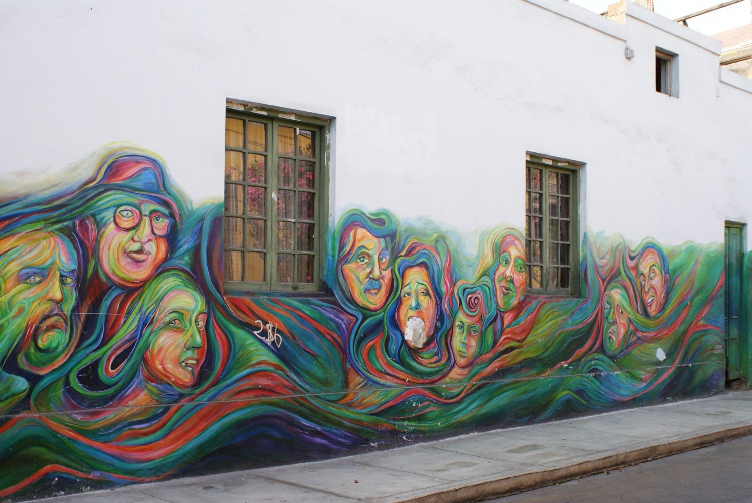 Colourful art in Lima