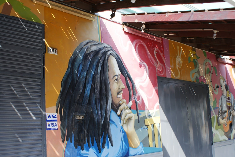 Bob Marley Mural in Lima