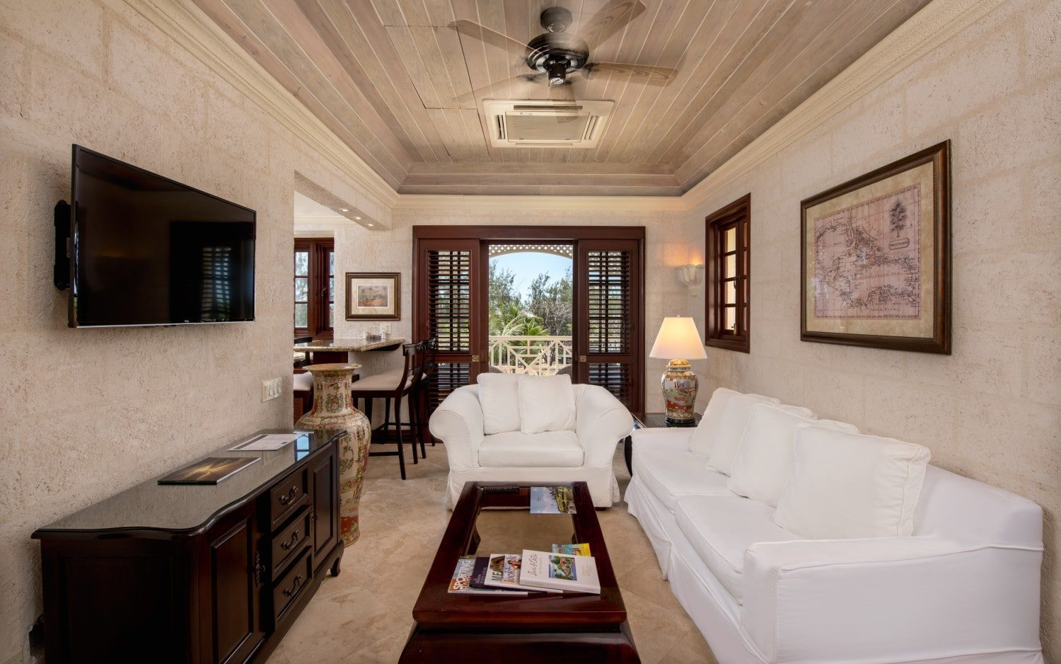 The Crane - Luxury Hotels in Barbados -One Bedroom Standard Penthouse with Rooftop Pool - Living Area