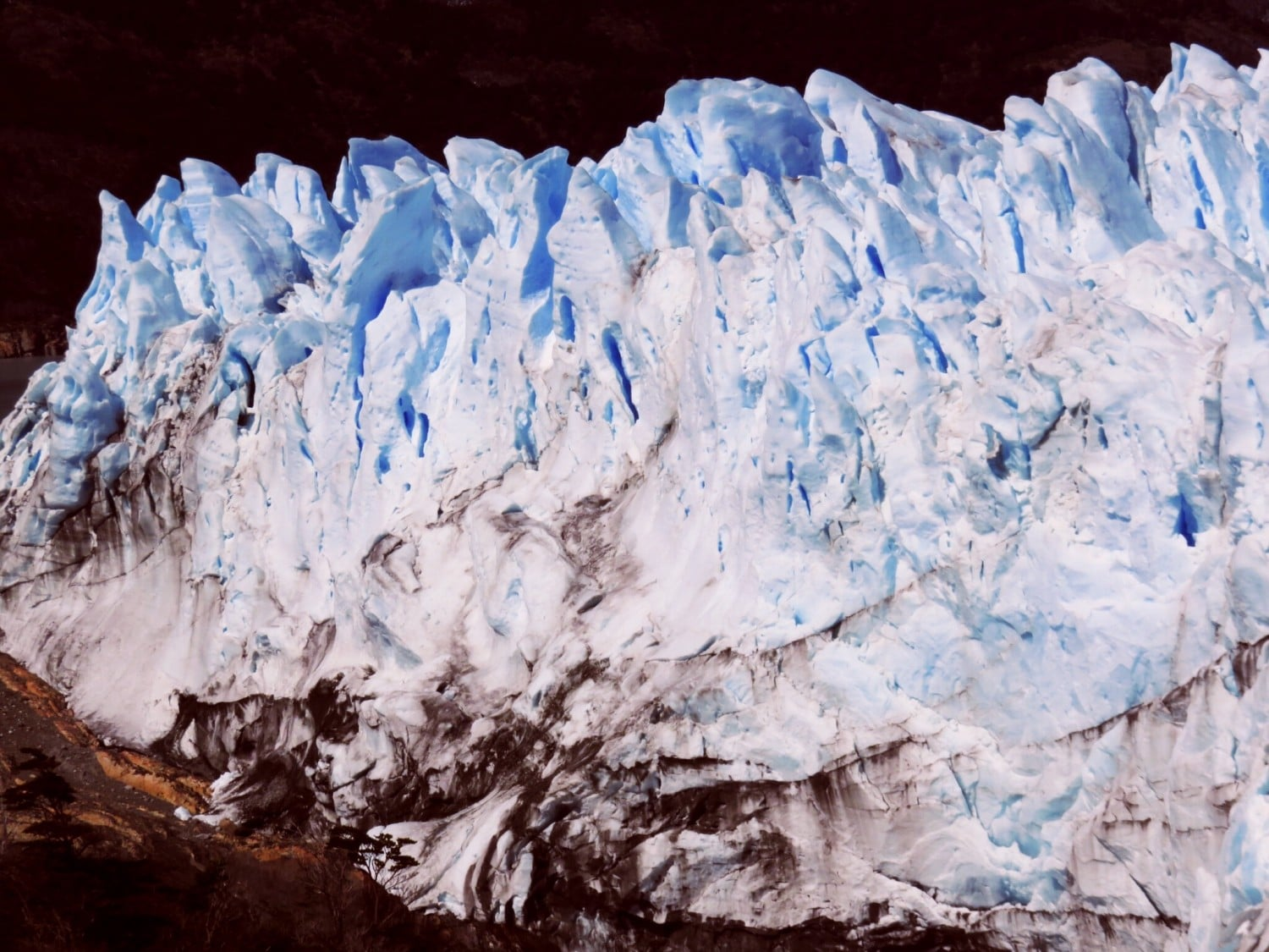 Close up of Perito Moreno Glacier, El Calafate Argentina