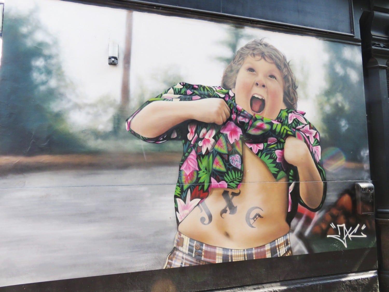 Chunk Street Art The Goonies Camden JXC