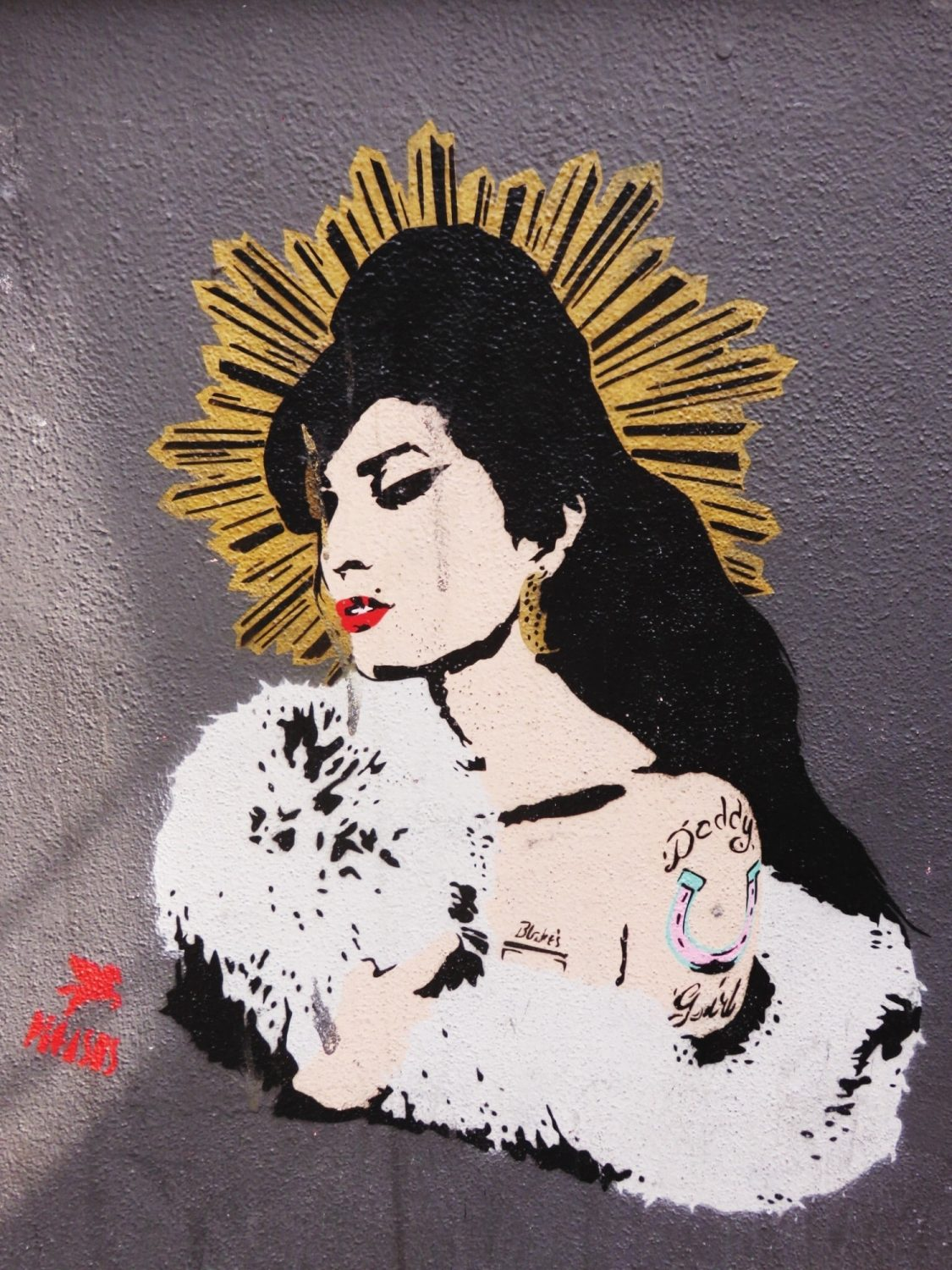 Amy Winehouse Street Art Pegasus Camden