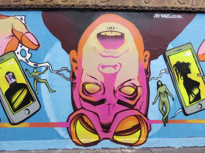 Jay Kaes Sci-Fi Urban Mural in Shoreditch London