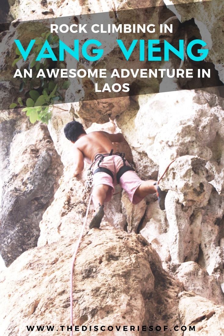 Looking for alternative things to do in Vang Vieng, Laos- You have to try rock climbing. Adventure, adrenaline and thrills guaranteed. Click to read more.