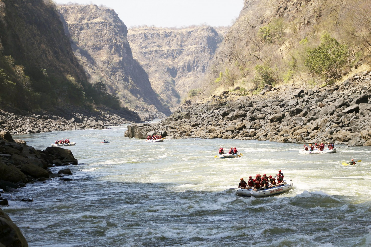 White Water rafting adventure Zimbabwe