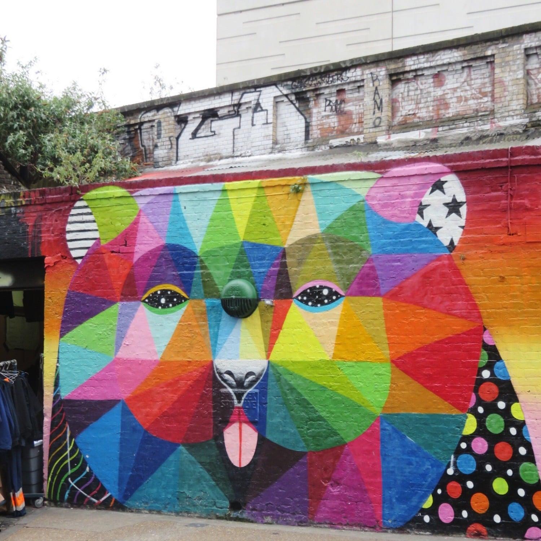 OKUDA bear on Sclater Street East London