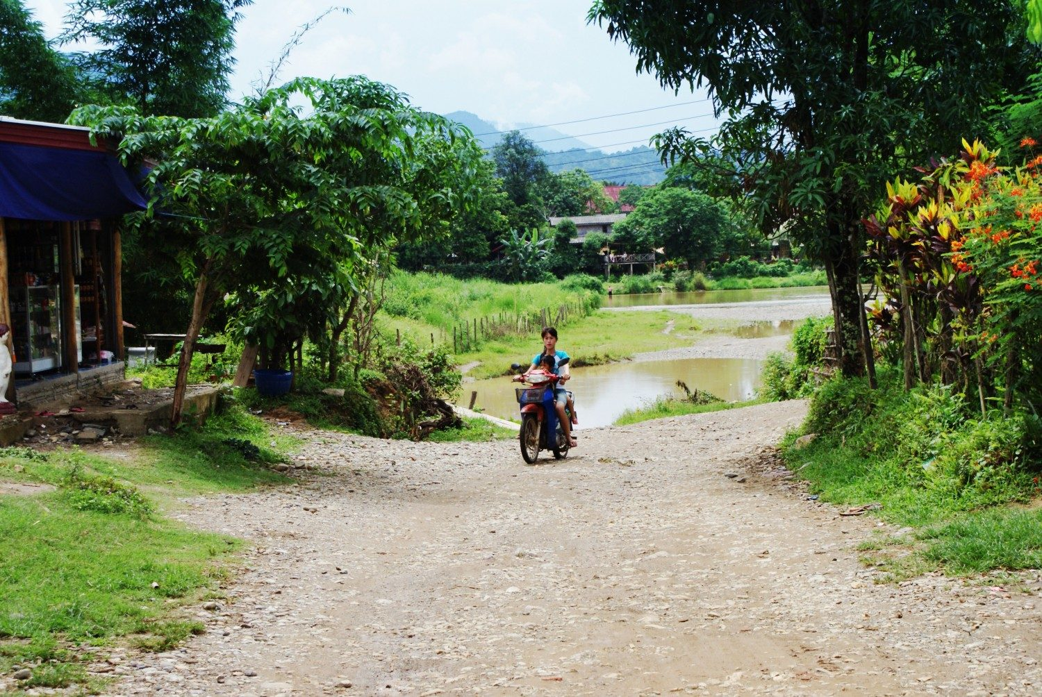 Walking in countryside outside of Vang Vieng Laos