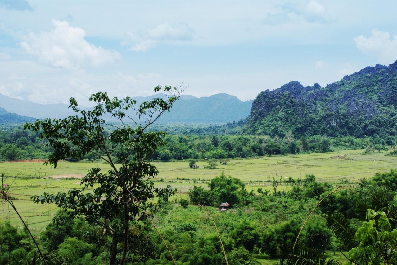 Beautiful views over Vang Vieng