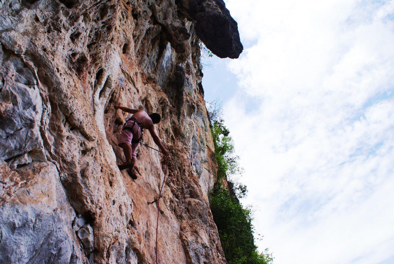 Rock climbing in Vang Vieng Laos