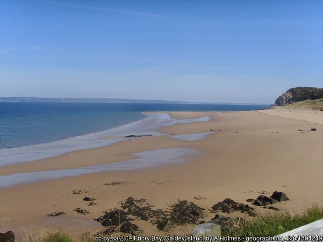 Caldey Island, Priory Beach in Wales