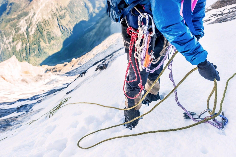 Climber on Mount Everest