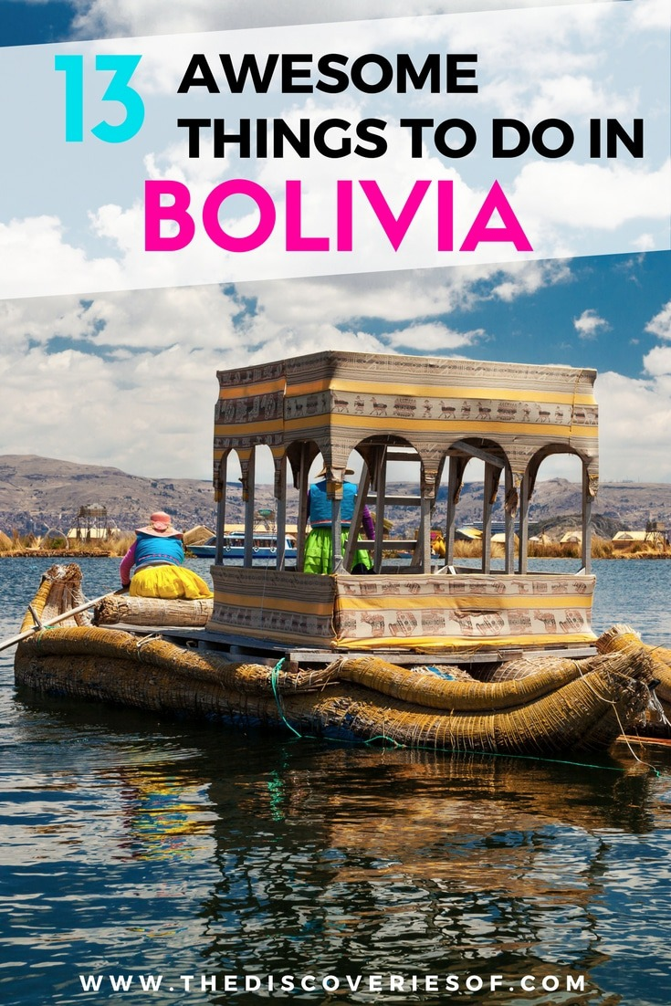 Looking for Bolivia travel inspiration- Here's 13 destinations you shouldn't miss on your adventure! La Paz, the Salt Flats, Sucre, Death Road, Lake Titicaca, Potosi and more. Read the full article.