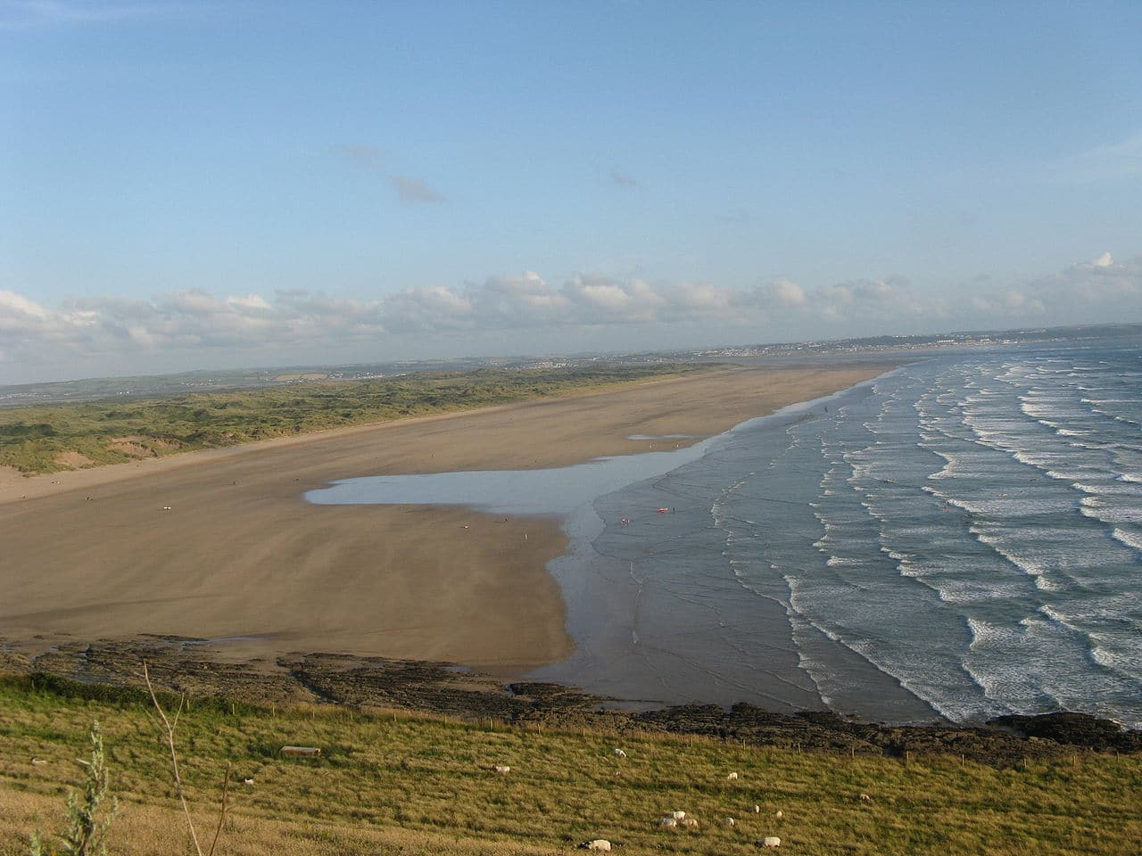 Saunton Sands is a beautiful sandy beach in Devon - Wikimedia Commons