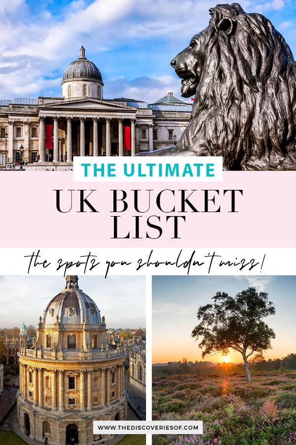 UK Bucket List United Kingdom