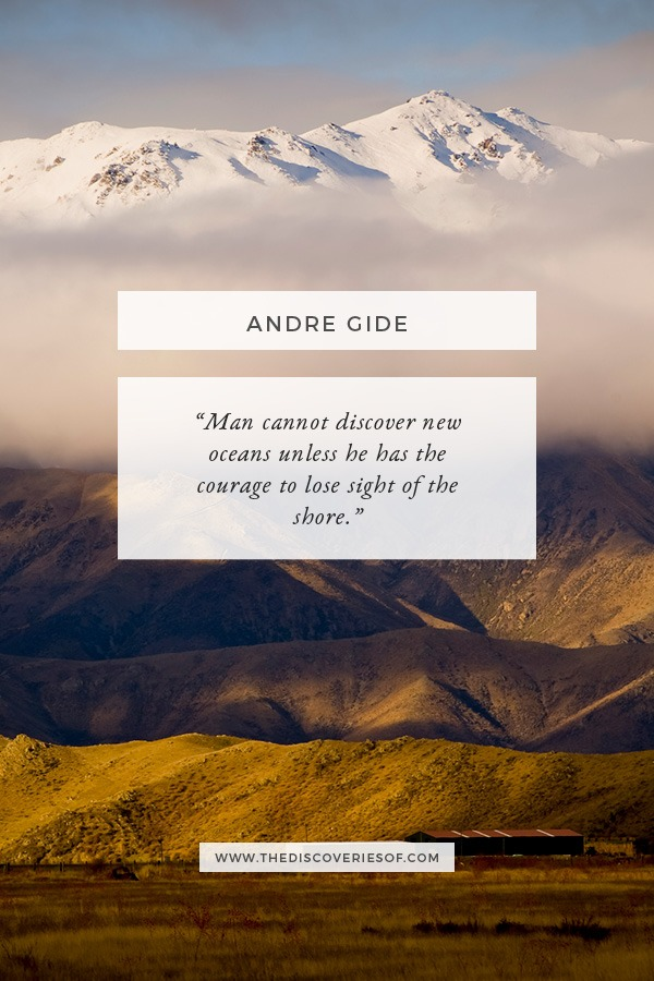Andre Gide Travel Quote - Man Cannot Discover