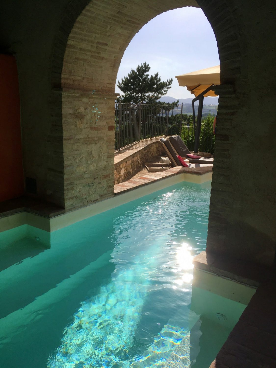 A pool with a view at Santi Terzi