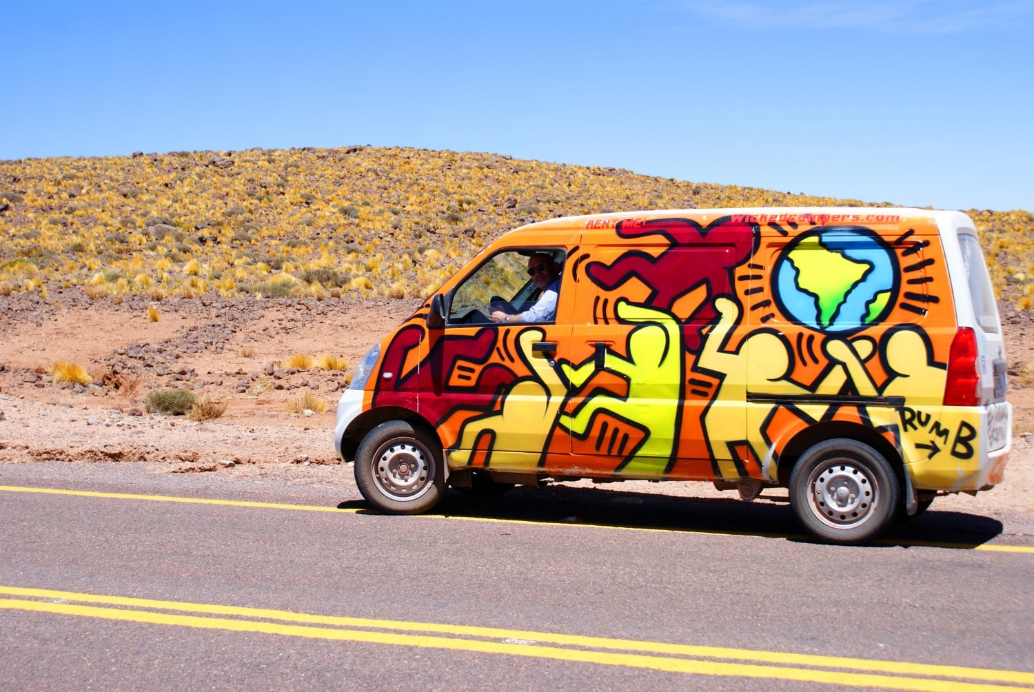 Campervan in the Atacama Desert
