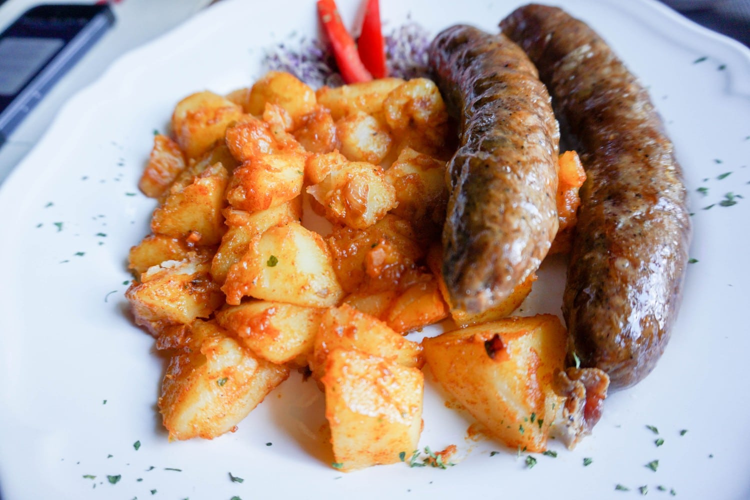 Croatian Sausages at Zagreb's Best Restaurant