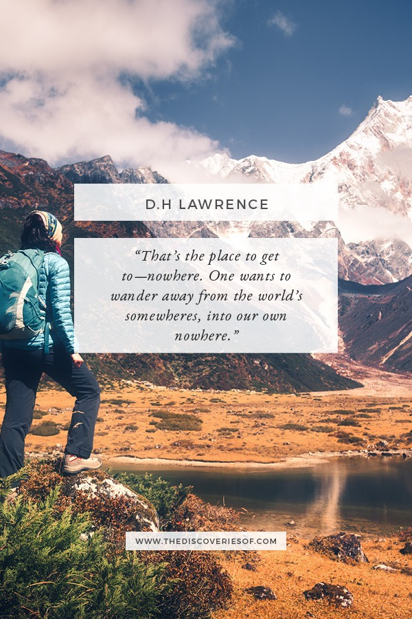 D.H Lawrence Travel Quote