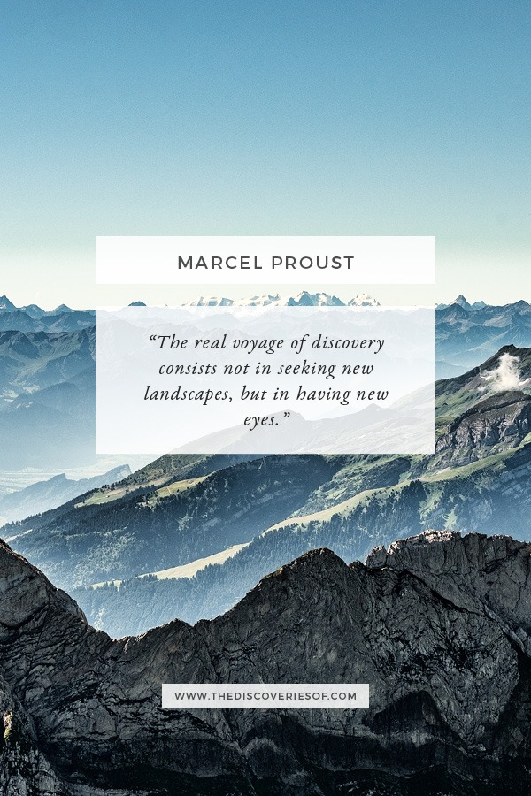 Marcel Proust Quote for Travel