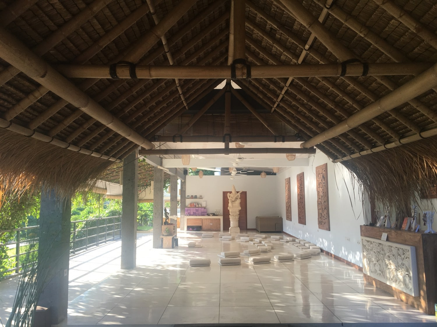 Practise Area at Blooming Lotus Ubud - Yoga in Bali