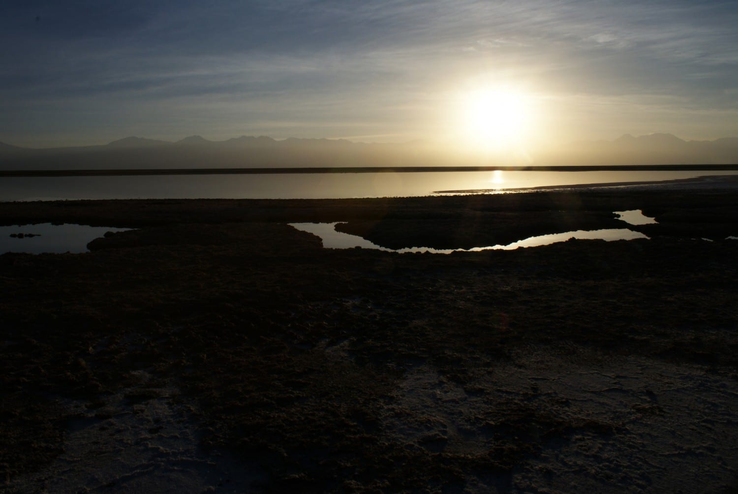 Sunset at Laguna Tebinquinche