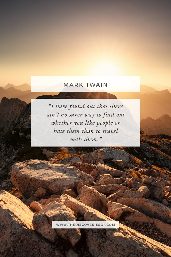 Travel With People - Mark Twain Journey Quote
