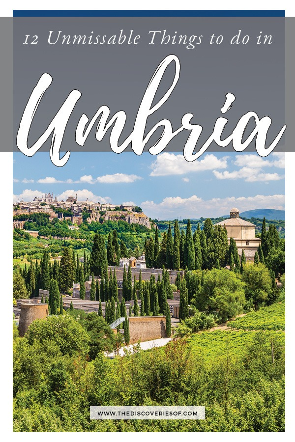 12 unmissable things to do in Umbria, Italy. Forget about Tuscany, Umbria is Italy's coolest spot - with amazing landscapes, medieval hill towns and incredible food, here's why you don't want miss it on your Italy travels. #travel #italy #vacation