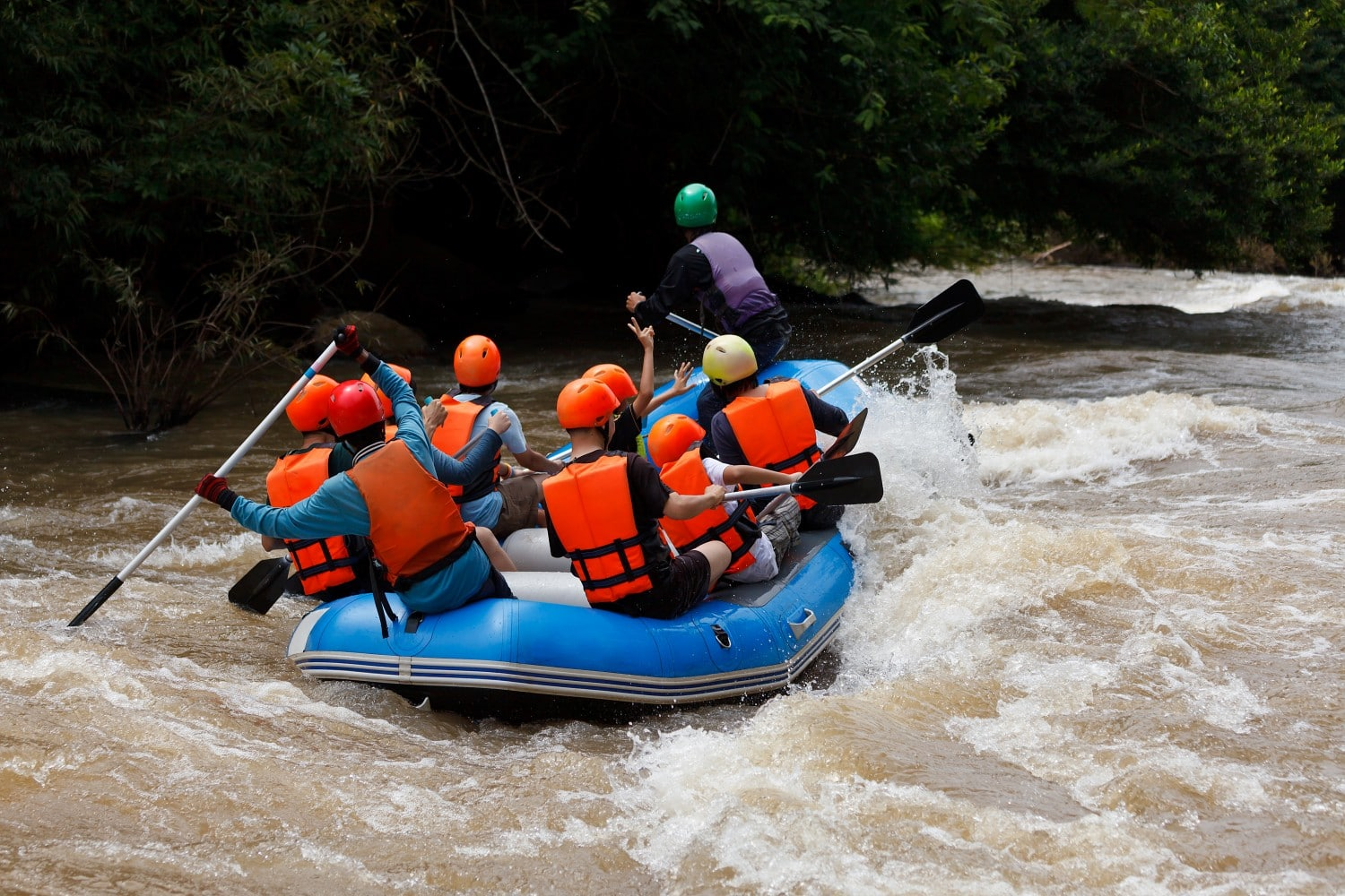 White water rafting on the Nera River